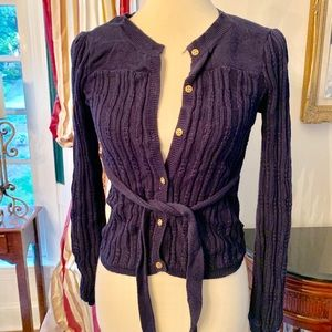 Girls Juicy Couture Size 12 Navy Blue Sweater